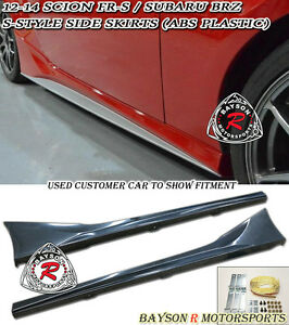 S style Side Skirts abs Fits 12 20 Brz Fr s Toyota 86