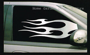 Chrome Silver Flame Car Truck Suv Both Side Left Right Window Tint Film 24 X36