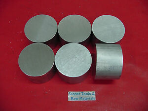 6 Pieces 2 3 8 Aluminum 6061 Round Rod Bar 2 Long Solid Lathe Stock 2 375