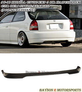 Ctr Tr style Rear Lip urethane Fits 96 00 Civic 3dr