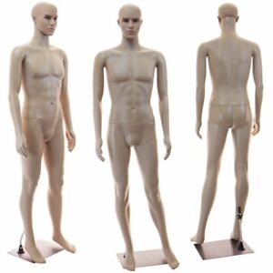 Male Full Bod Mannequin Base Head Rotates Realistic Looking Manikin 1 Wig