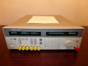 Hp Agilent 83732a 10mhz 20ghz Synthesized Signal Generator Calibrated
