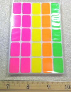 500 Removable Neon Adhesive Retail Store Garage Sale Price Label Tag Sticker