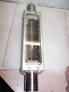 Brooks Nitrogen Flow Meter Site Glass Stainless Steel 0100040136584 001