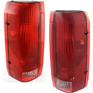 1990 1996 Replacement Tail Light Housing For Ford F150 f250 bronco Pair Oem Type