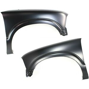 Fender For 94 2004 Chevrolet S10 Set Of 2 Front Driver Passenger Primed Steel