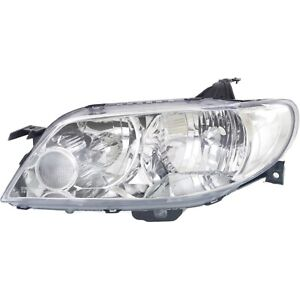 Headlight For 2002 2003 Mazda Protege5 Hatchback Left Aluminum Bezel