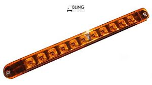 1 Bright Amber 17 Led Light Bar Trailer Truck Turn Tail Clearance Markers