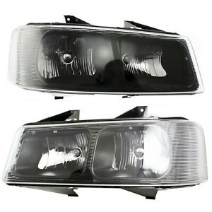 Headlights Headlamps Pair Set Of 2 Lh Rh For 03 13 Savanna Chevy Express Van