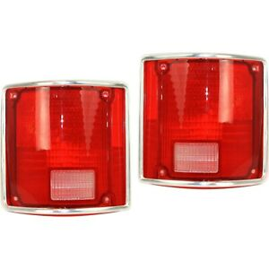 Tail Light Lens For 75 86 Chevrolet C10 Set Of 2 Driver And Passenger Side