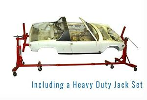 Auto Rotisserie Heavy Duty Jack Vehicle Wheel Tire Car Body Shop Mechanic Dolly