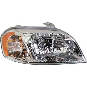 Headlight For 2007 2011 Chevrolet Aveo Sedan Passenger Side W Bulb