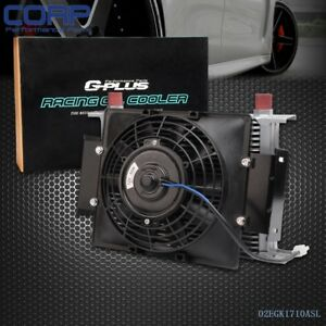 Universal 25 Row 10an Engine Transmission Oil Cooler Kit 7 Fixed Cooling Fan