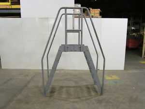 Steel Crossover Ladder Space Saver Design 24 wx24 Clear Span 47 High Clearance