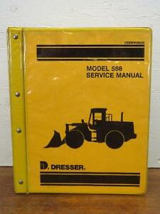 Dresser Model 568 Wheel Front End Loader Shop Repair Service Manual