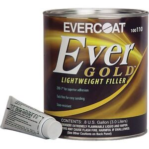 Evercoat Evergold Premium Lightweight Body Filler 0 8 Gallon Usa me 110