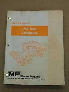 Original Massey Ferguson Mf 550 Combine Parts Manual Book 651417m94
