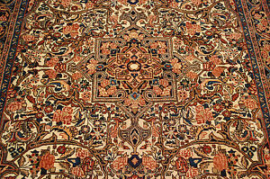 C1930s Antique Exclusive Fine Prsian Bijar Rug 4 7x6 10 Highly Detailedbeauty