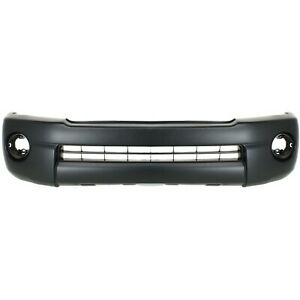 Bumper Cover For 2005 11 Toyota Tacoma Base Prerunner With Fog Light Holes Front