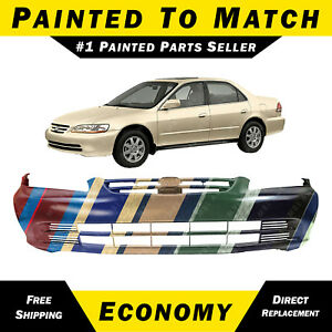 New Painted To Match Front Bumper Cover For 2001 2002 Honda Accord Sedan 4door