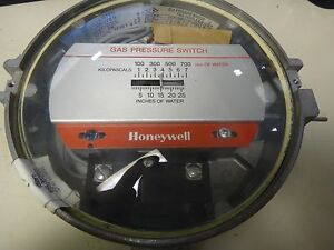 Honeywell Gas Pressure Switch 0 25 Of Water Type C437d e g h