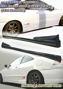 Optional Tr Style Side Skirts Pp Fits 94 01 Integra 2dr