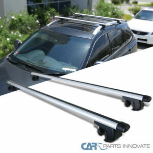 53 Aluminum Roof Top Rail Rack Cross Bars Cargo Carrier Car Wagon Suv