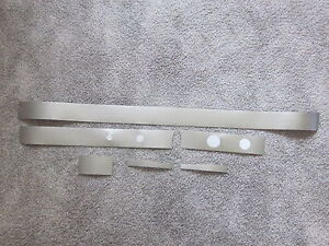 1965 1966 Impala And Caprice Vinyl Dash Trim In Brushed Aluminum