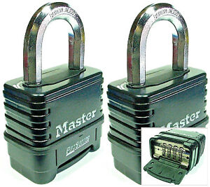 Combination Lock Set By Master 1178d lot 2 Resettable Weather Sealed Carbide