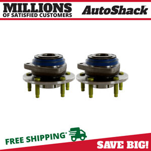 Front Pair 2 Wheel Hub Bearing Assemblies 5 Stud Fits 2000 2008 Chevrolet Impala