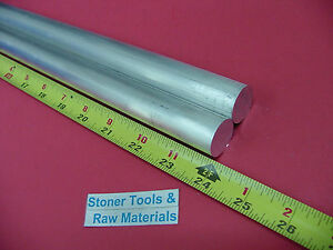 2 Pieces 3 4 Aluminum 6061 Round Rod 24 Long T6511 Solid New Lathe Bar Stock