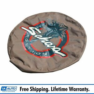 Mopar Spare Wheel Tire Cover Tan Sahara Edition For 97 06 Jeep Wrangler