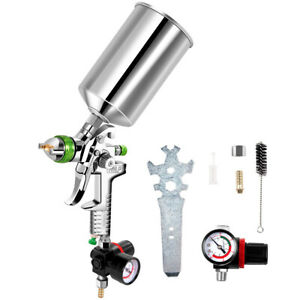 2 5mm Hvlp Gravity Feed Spray Gun Kit W regulator Auto Paint Primer Metal Flake