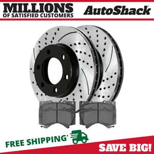 Front Drilled Slotted Rotors And Ceramic Pads For 2000 2005 2006 Toyota Tundra