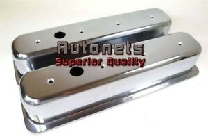 Tall Small Block Chevy 305 350 Centerbolt Polish Aluminum Valve Cover Smooth Sbc