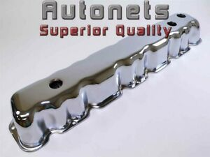 Chrome Steel Short Stock Valve Covers Amc Jeep Straight 6 Cylinder 199 232 258