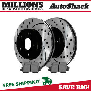 Front Drilled Slotted Brake Rotors Metallic Pads For 2006 2011 Chevy Hhr Ls Lt