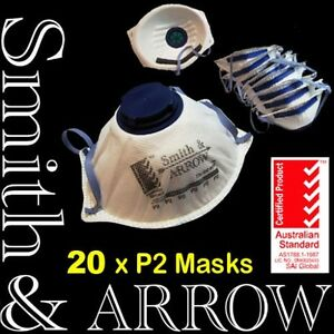 20x N95 Face Mask Safety Disposable Valved Valve Dust Painting Welding Fumes
