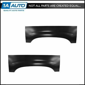 Wheel Arch Repair Panel Upper Rear Pair Set Of 2 For Chevy Silverado Gmc Sierra