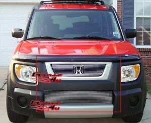 Fits 2003 2006 Honda Element Billet Grille Combo