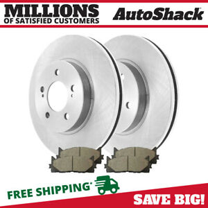 Front Rotors And Ceramic Pads For 2007 2010 2011 Toyota Camry 2008 2011 Avalon