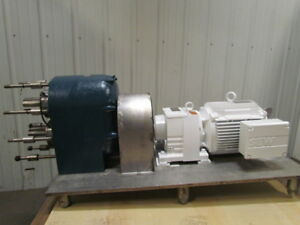 Tri clover 10 Hp Motor Gearbox Mobil Gear Reducer Drive For Pred300 Pump