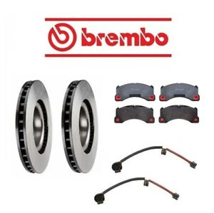 For Porsche Cayenne 2008 Front Brake Rotors W Pads Sensors Brembo Oem
