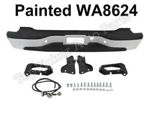 New Painted Summit White Wa8624 Rear Bumper Assy For 00 06 Chevy Suburban Tahoe