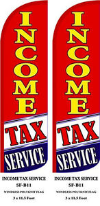Income Tax Service red Two 2 Swooper Feather Flag Kits With Hardware