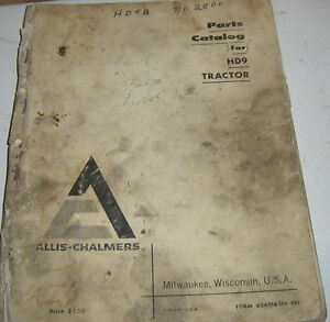 Vintage Allis chalmers Hd9 Crawler Tractor Parts Catalog Original