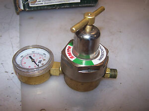 New Smith H1775c Brass Oxygen Regulator Gauge Max Inlet 300 Psig