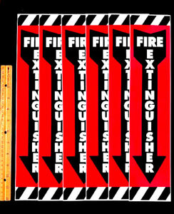 Lot Of 6 5 1 Free Code Compliant 16 3 4 Modern Fire Extinguisher Signs