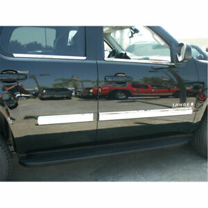Chrome Door Moldings Trim For 2007 2008 Chevy Tahoe