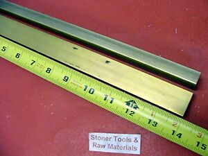 2 Pieces 1 2 X 1 C360 Brass Flat Bar 14 Long Solid 500 Mill Stock H02